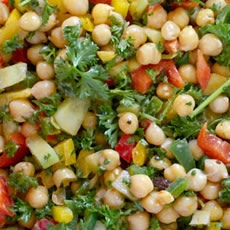 Bell Pepper and Chickpea Salad Photo