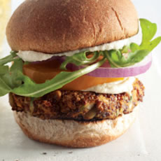 Red Quinoa Zucchini Burgers Photo